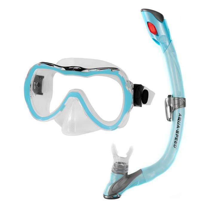 Aqua Speed Enzo+Evo Snorkel Set - Blue