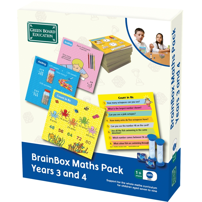 Green Board Games BrainBox Matematik Paketi 3-4 (Maths Pack Years 3 and 4) (İngilizce)