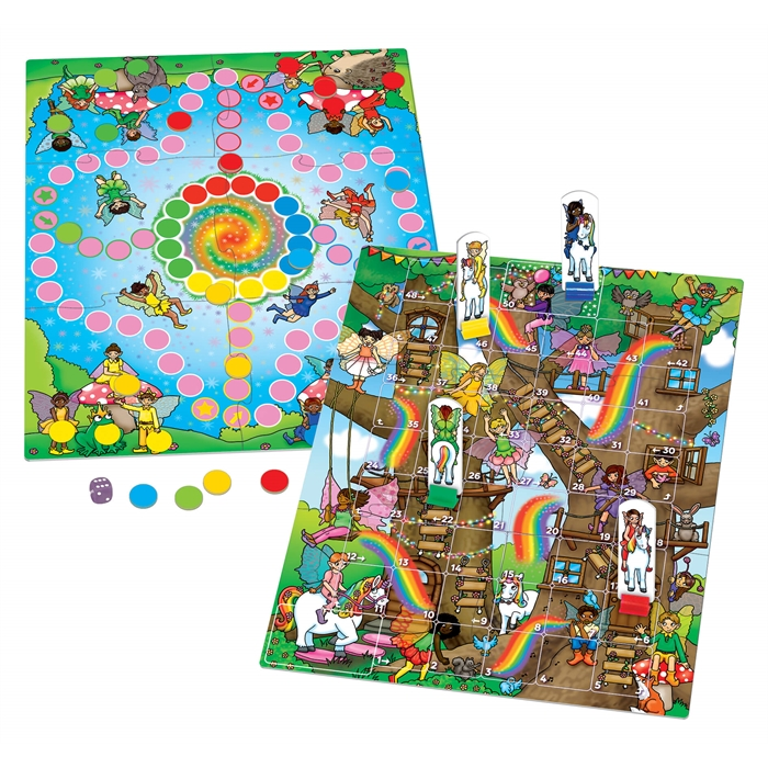 Orchard Fairy Snakes and Ladders & Ludo