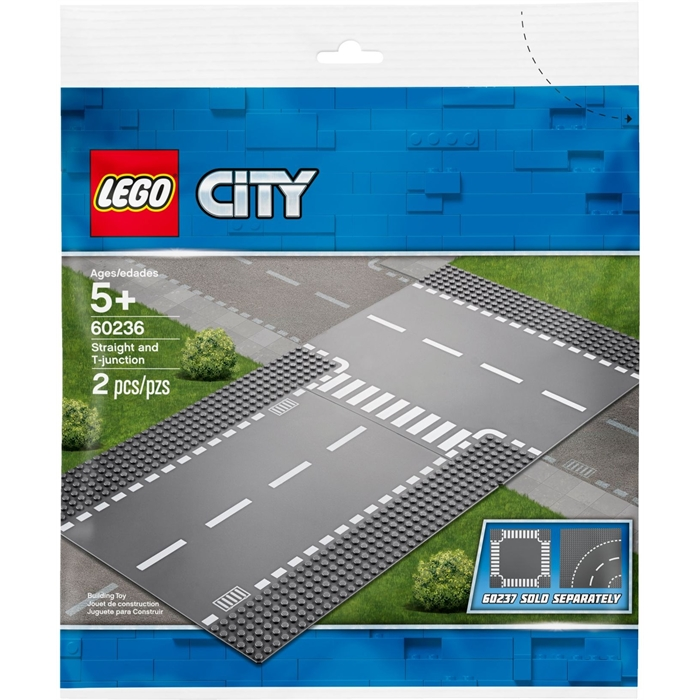 Lego 60236 City Straight and T junction