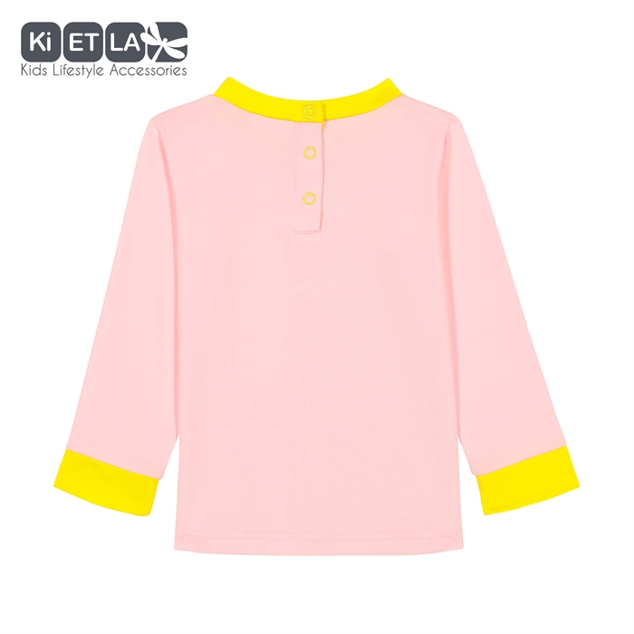 Kietla Anti UV T-Shirt 3-4 Yaş Pink/Yellow