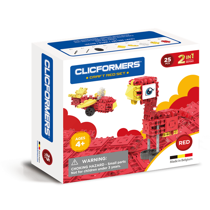 Clicformers Craft Set Red - 25 pcs