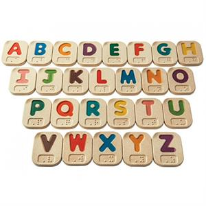 Plan Toys Braille Alfabesi A-Z (Braille Alphabet A-Z)