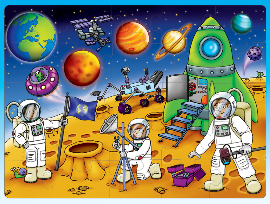 Картинки о космосе для детей, маленькие
