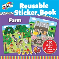 Galt Reusable Sticker Book - Farm